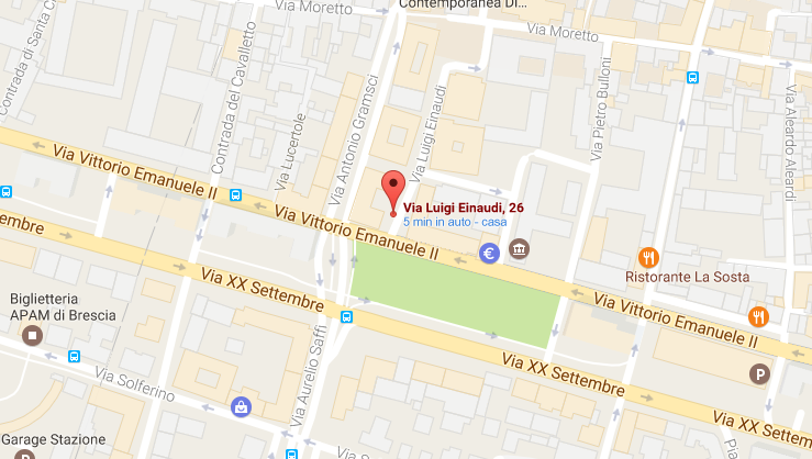 Business Center via einaudi 26 25122 Brescia maps